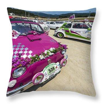 Vintage Cars 500 Garlenda Villanova Rally 3 Throw Pillow