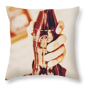 Vintage Cheers Throw Pillow