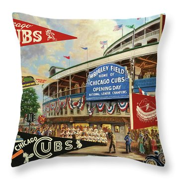 Vintage Chicago Cubs Throw Pillow