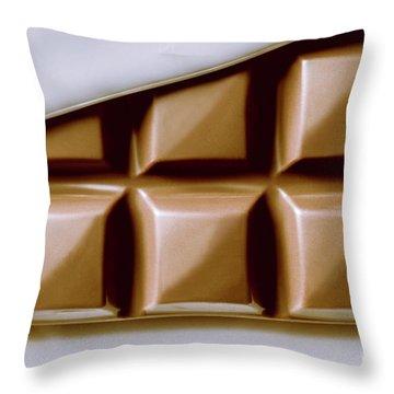 Vintage Chocolate Block Macro Throw Pillow