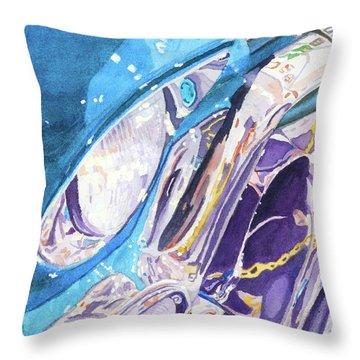 Vintage Chrome Throw Pillow by Lynne Reichhart
