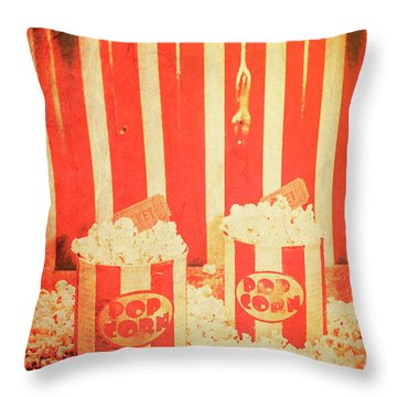 Vintage Classical Cinema Interval Concept Throw Pillow