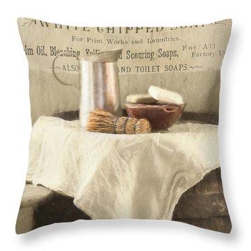 Vintage Clean Throw Pillow