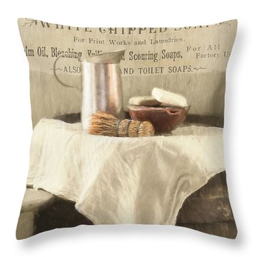 Vintage Clean Throw Pillow
