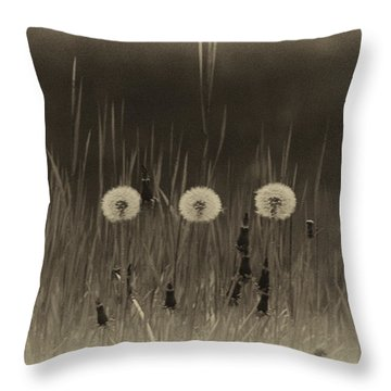 Vintage Clocks Throw Pillow