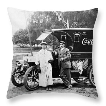 Vintage Coke Delivery Truck Throw Pillow