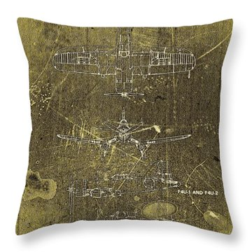 Vintage Corsair Throw Pillow