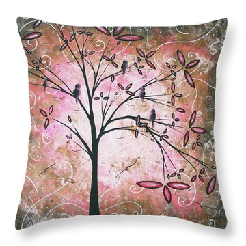 Vintage Couture By Madart Throw Pillow by Megan Duncanson