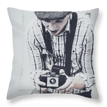 Vintage Creativity In Process Throw Pillow