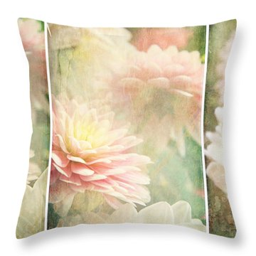Vintage Dahlia Throw Pillow