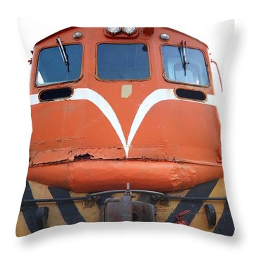 Vintage Diesel Engine Throw Pillow by Yali Shi