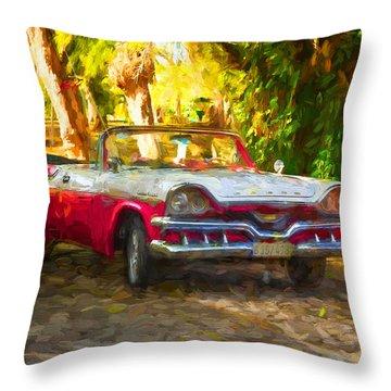 Vintage Dodge Custom Royal 1957 Throw Pillow