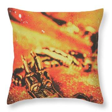 Vintage Dragon Charm Throw Pillow
