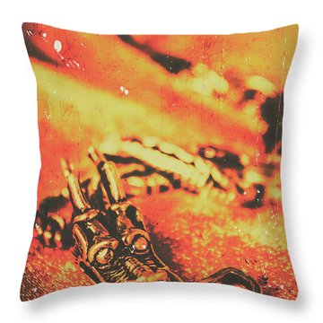 Vintage Dragon Charm Throw Pillow