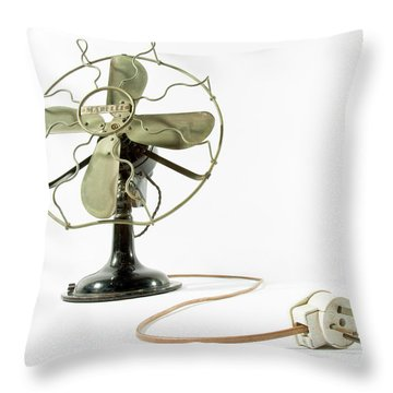 Vintage Fan 4 Throw Pillow