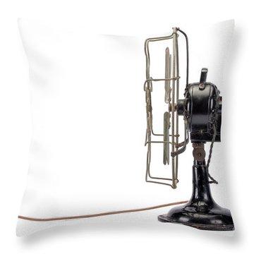 Vintage Fan Throw Pillow
