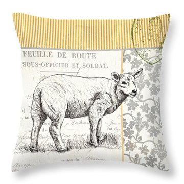 Vintage Farm 3 Throw Pillow by Debbie DeWitt