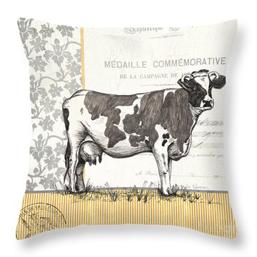 Vintage Farm 4 Throw Pillow by Debbie DeWitt