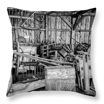 Throw Pillow featuring the photograph Vintage Farm Display by Betty Pauwels