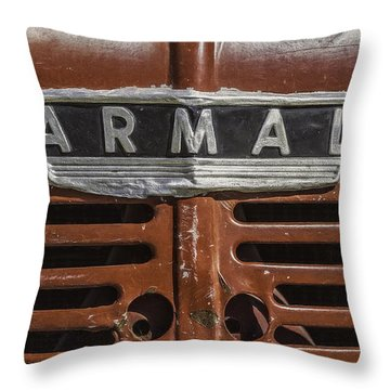 Vintage Farmall Tractor Throw Pillow