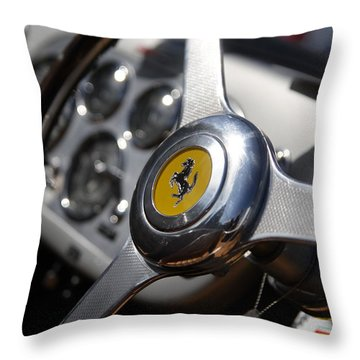 Throw Pillow featuring the photograph Vintage Ferrari Wheel by Joel Witmeyer
