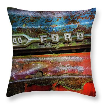 Vintage Ford F100 Throw Pillow