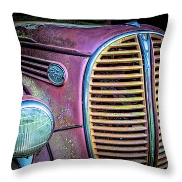 Vintage Ford Firetruck Throw Pillow
