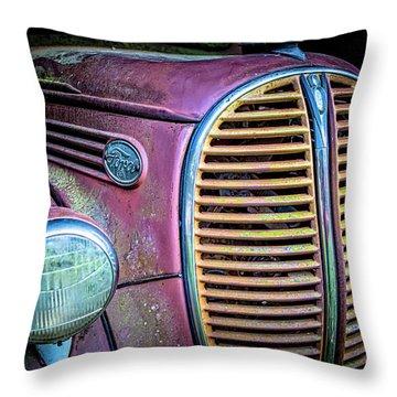 Vintage Ford Firetruck Throw Pillow