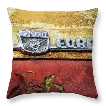 Vintage Ford Logo Throw Pillow