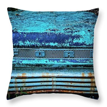 Vintage Ford Pick Up Throw Pillow