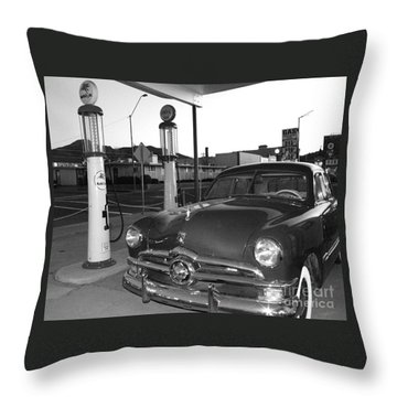 Vintage Ford Throw Pillow by Rebecca Margraf