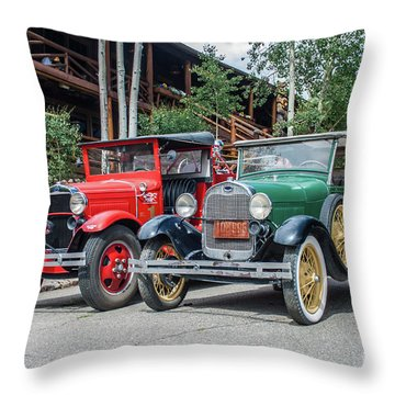 Vintage Ford's Throw Pillow