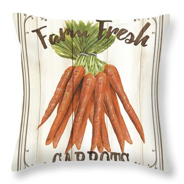 Throw Pillow featuring the painting Vintage Fresh Vegetables 3 by Debbie DeWitt