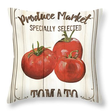 Throw Pillow featuring the painting Vintage Fresh Vegetables 4 by Debbie DeWitt