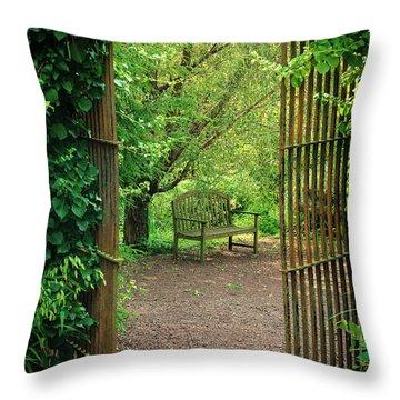 Vintage Garden Throw Pillow