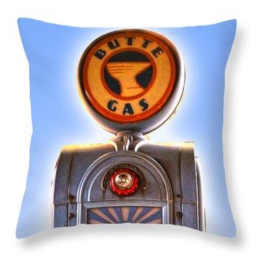 Vintage Gas Pump Throw Pillow