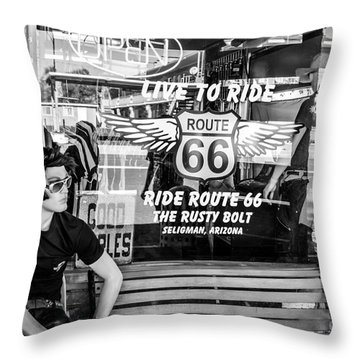 Vintage General Store Throw Pillow