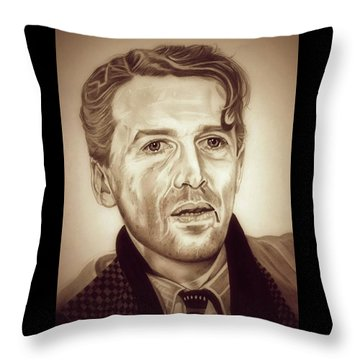 Vintage George Bailey Throw Pillow by Fred Larucci
