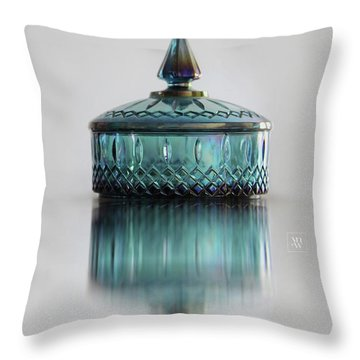 Vintage Glass Candy Jar Throw Pillow