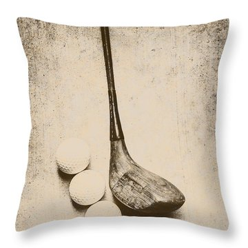 Vintage Golf Artwork Throw Pillow