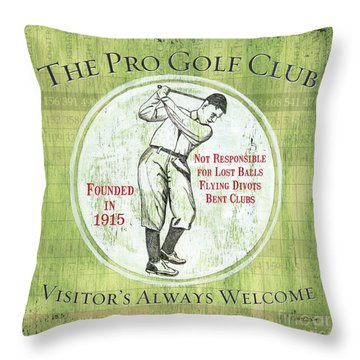 Vintage Golf Green 2 Throw Pillow by Debbie DeWitt