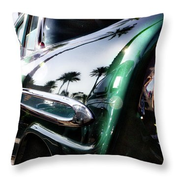 Vintage Green Throw Pillow