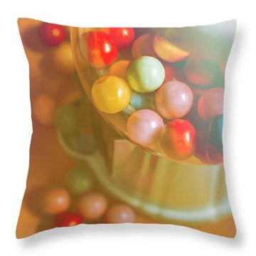 Vintage Gum Ball Candy Dispenser Throw Pillow