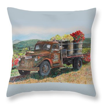 Vintage Harvest Throw Pillow by Gail Chandler