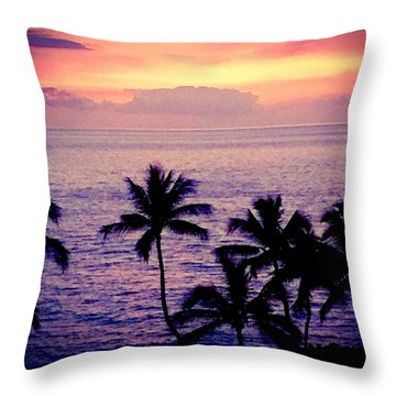 Vintage Hawaii Throw Pillow by Russell Keating