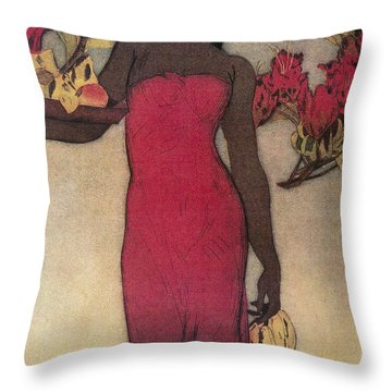 Vintage Hawaiian Woman Throw Pillow by Hawaiiam Legacy Archives - Printscapes