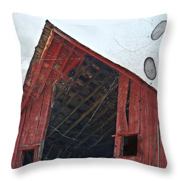 Throw Pillow featuring the photograph Vintage Hay Loft- Fine Art by KayeCee Spain