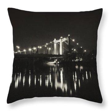 Vintage Hennepin Bridge Throw Pillow