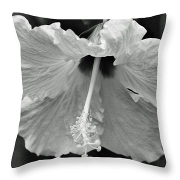 Vintage Hibiscus II Throw Pillow by Melanie Moraga