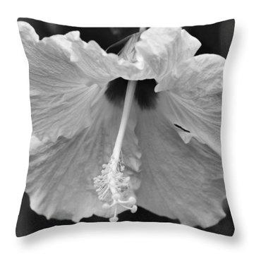 Vintage Hibiscus Throw Pillow by Melanie Moraga